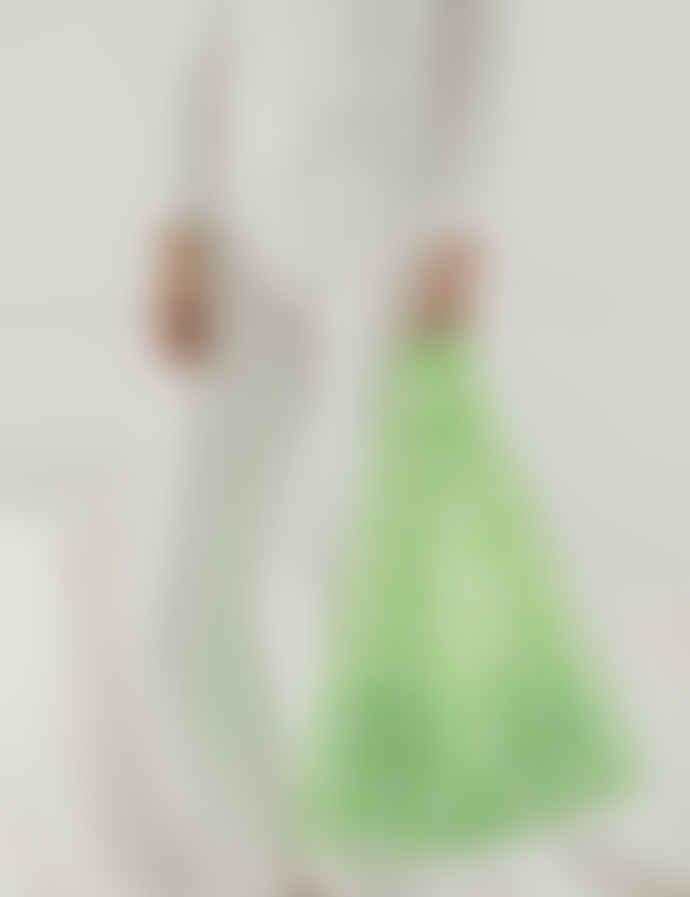 Baggu Big Lime Check Nylon Standard Reusable Bag