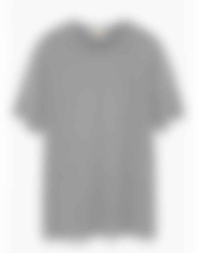 American Vintage Light Gray Cotton V Neck Jacksonville T Shirt