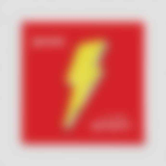 Redback cards Sequin Patch Lightening Bolt Card