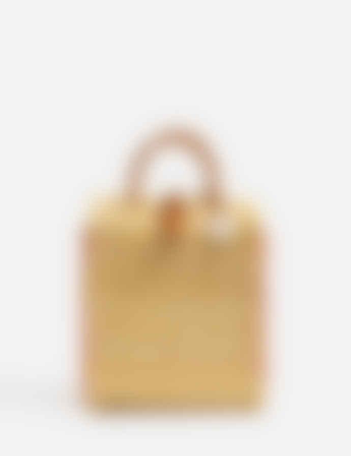 TOINO ABEL Natural Organic Reed Rosa Basket Bag with Shoulder Strap