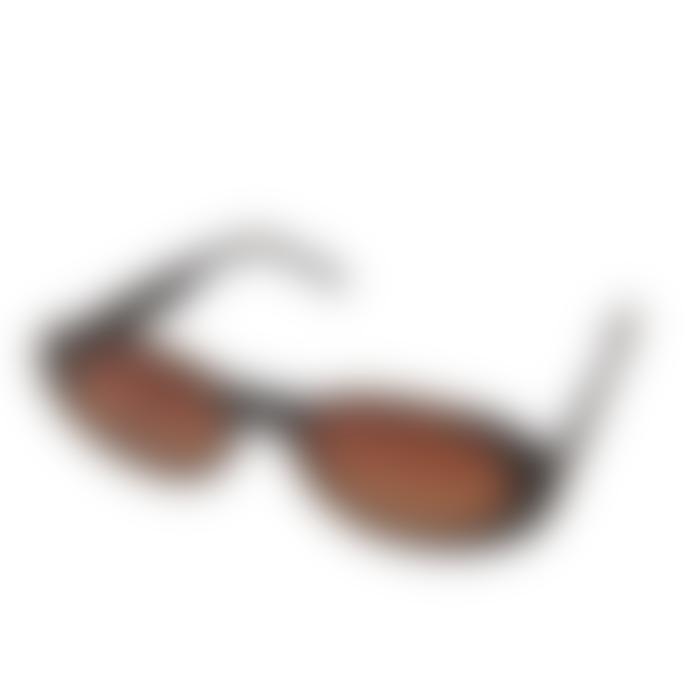 Komono Black Tortoise Alina Sunglasses