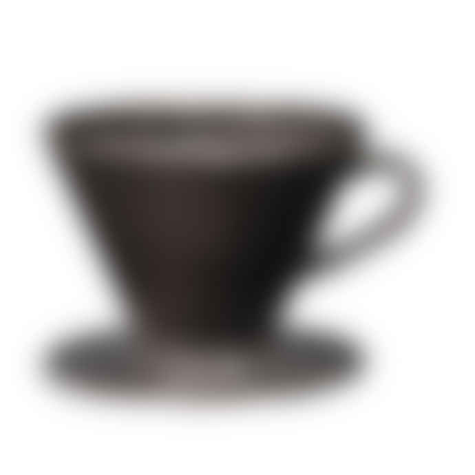 Broste Copenhagen Black Glazed Stoneware Nordic Coal Coffee Filter