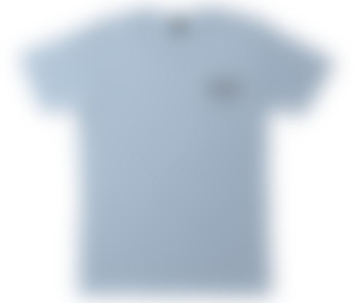 Dark Seas Beach Wall Tee Shirt Powder Blue