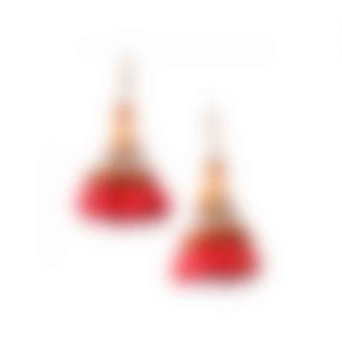 Nature Bijoux Broceliande Tassel Red Earrings