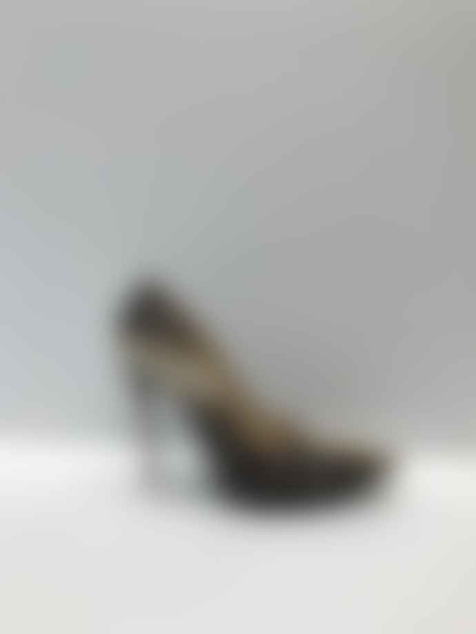 Collection & Co Tia Brown Tiger Print Heels