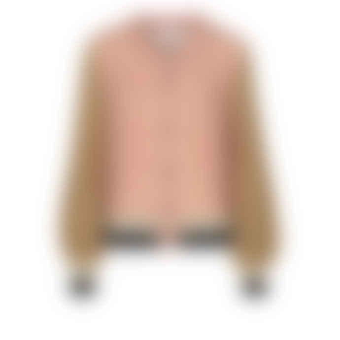 Munthe Peach Nylon Wool Alice Cardigan