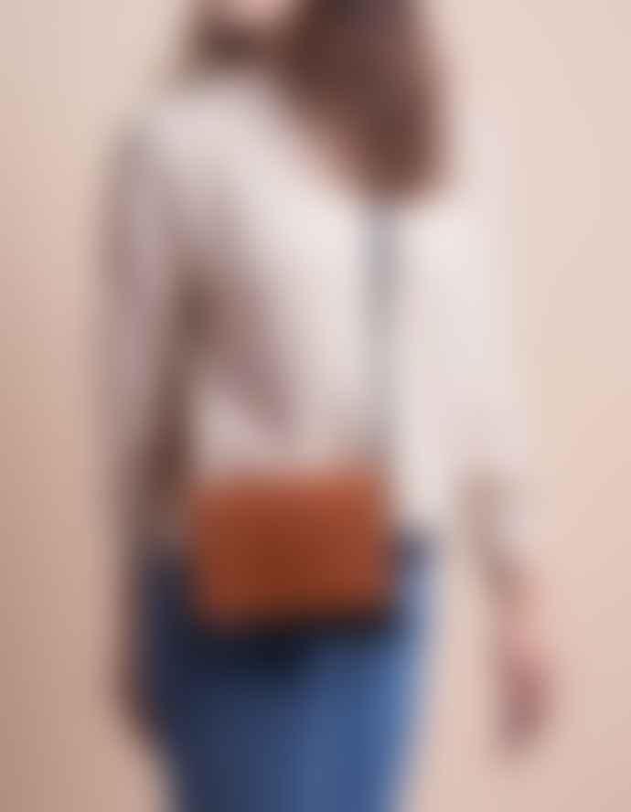 O My Bag  Audrey Mini Black Cognac - Cross Shoulder Bag