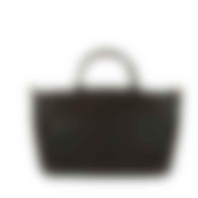O My Bag  Medium Hunter Leather Fly Violet Tote Bag