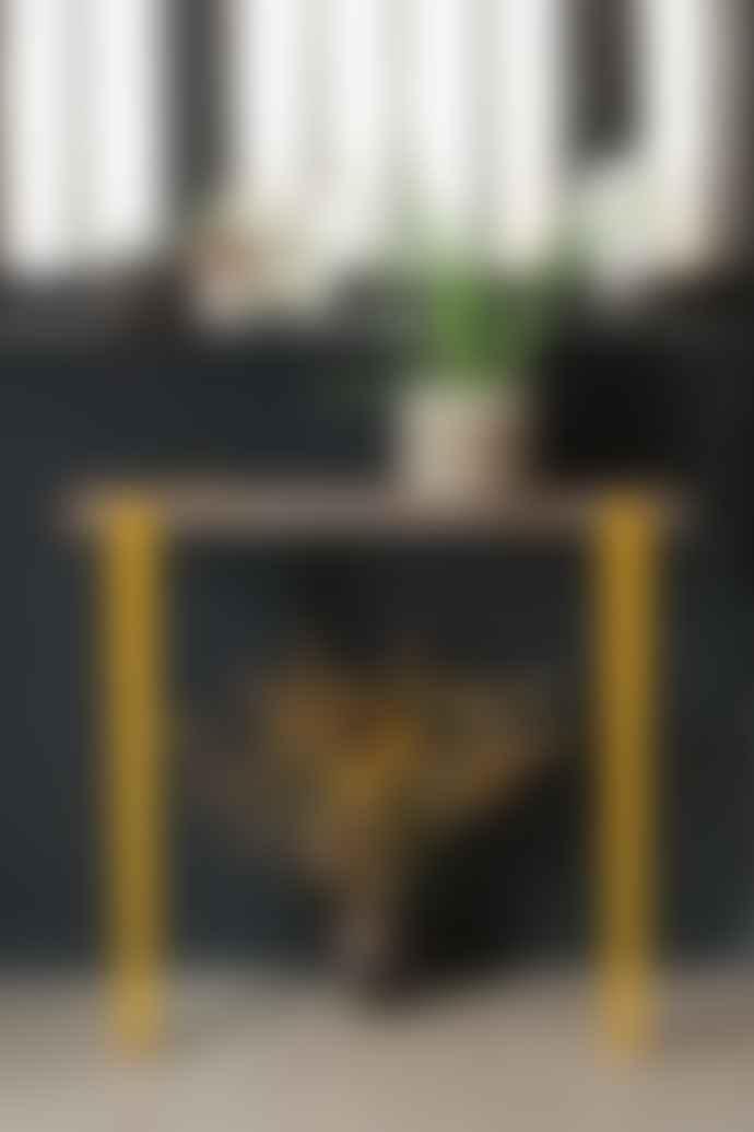 Tiptoe 75cm Steel Table / Desk Leg Graphite Black