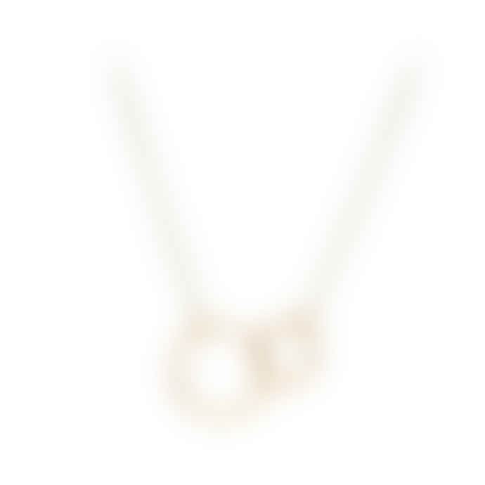 Pernille Corydon Double Hoop Necklace in Gold Plated Sterling Silver