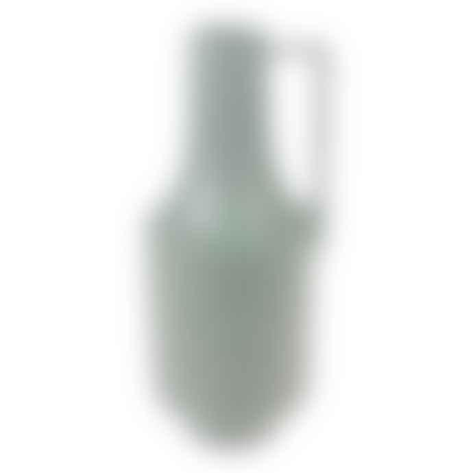 HKliving Ceramic Vase With Handle Green