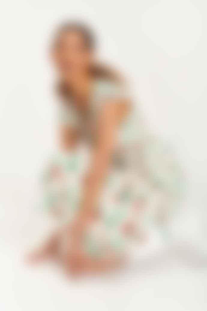 Essentiel Antwerp Trophee Off White Floral Midi Dress