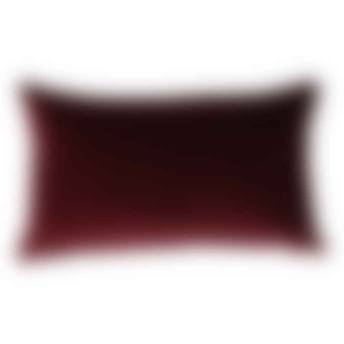 The Hackney Draper Long Mulberry Velvet Cushion