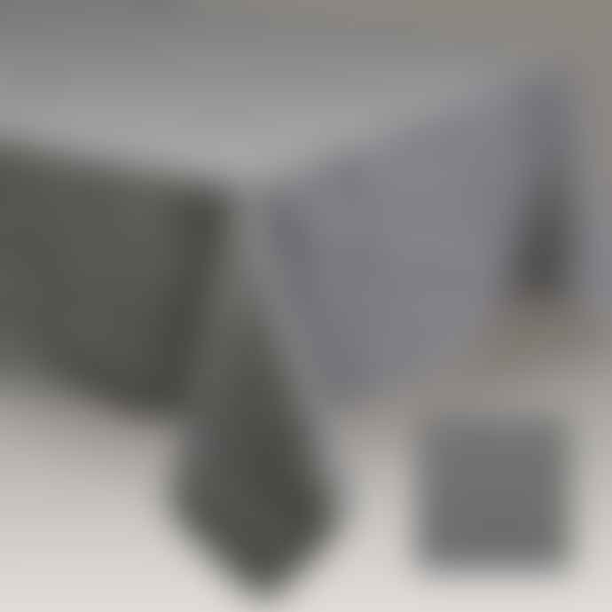 Simla Table cover linen stoneware Dark grey