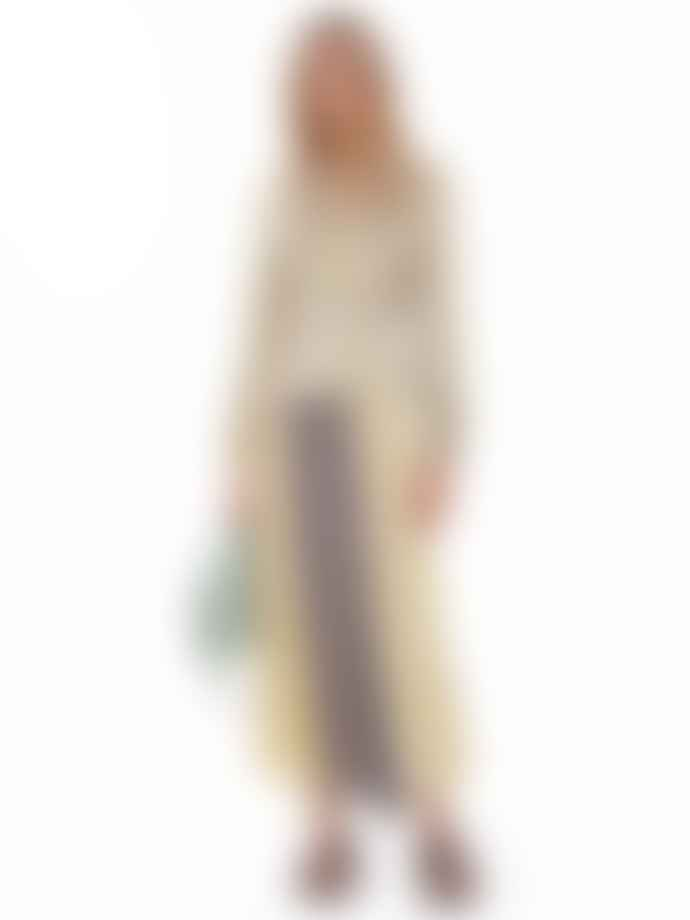 Ganni Contrast Print Crepe Skirt