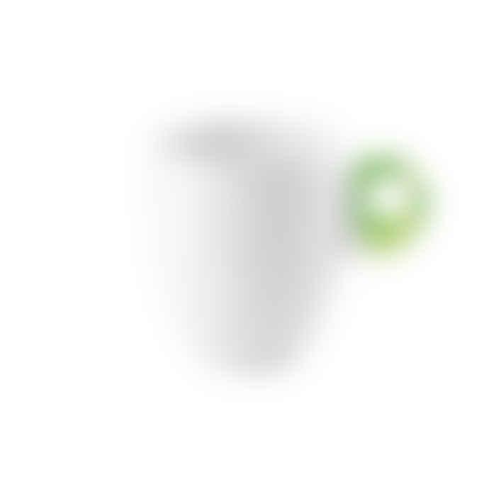 Guzzini Lime Green and White Porcelain and Acrylic Mug Feeling