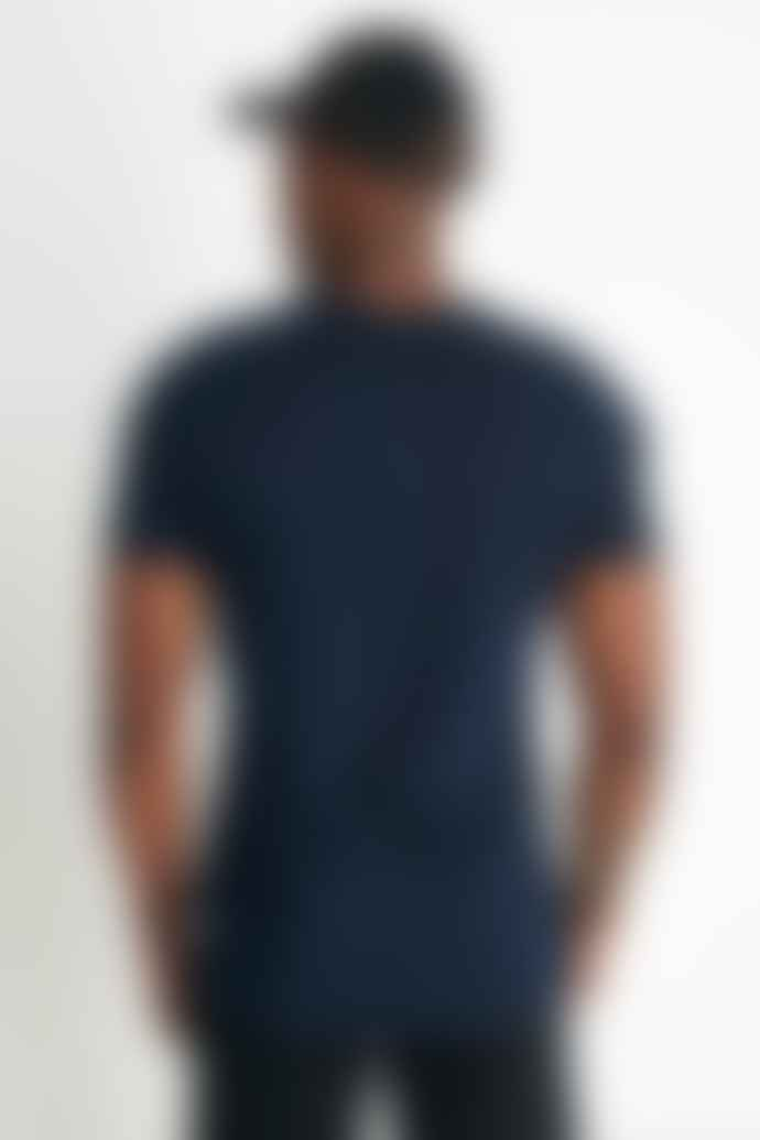 Reigning Champ Gym Logo Ringspun Jersey T Shirt Navy White