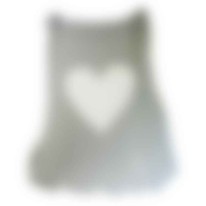 Alimrose Grey White Heart Knitted Blanket