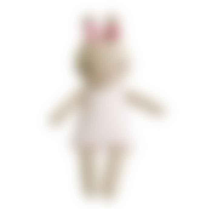 Alimrose Bonnie Bunny Rattle Pink Spot