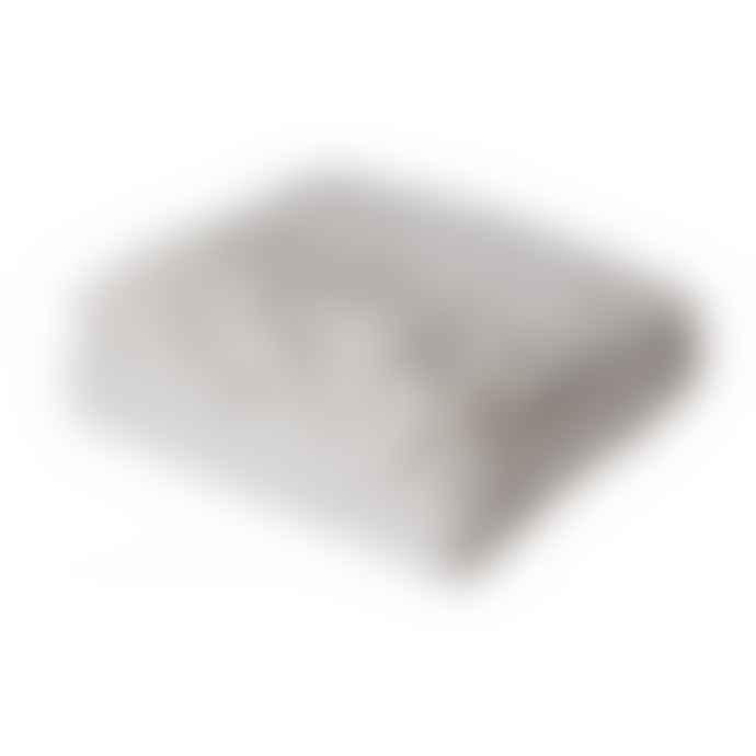 Affari Silver Cotton Rut Blanket
