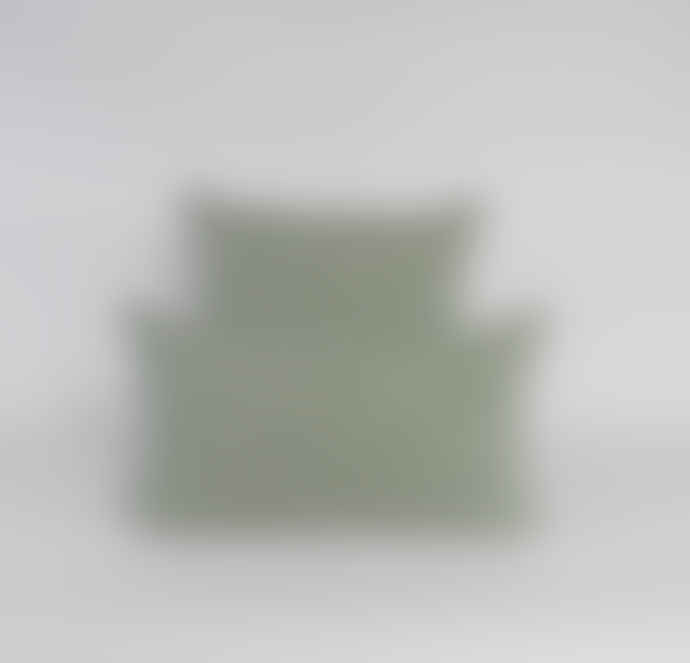 Indigo & Wills Sea Green Heera Design Linen Cushion