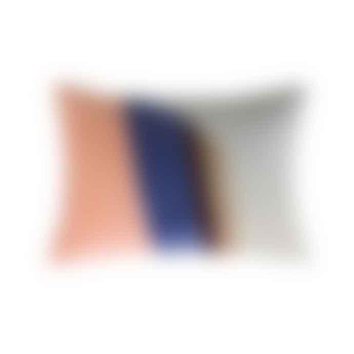 CollardManson Velvet Patch Cushion Multicolour