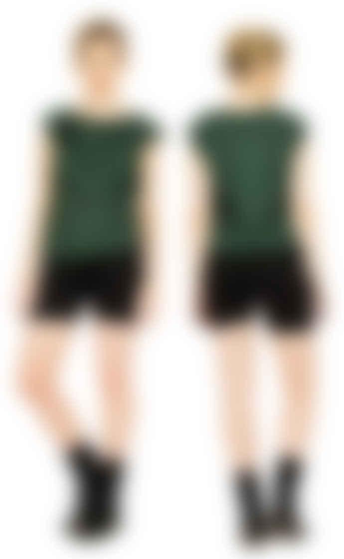 Format LIZZ Green Plain Blouse