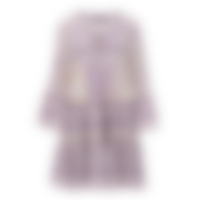 DEVOTION Purple/ White Whipu Devotion Embroidery Zakar Dress 0193193G
