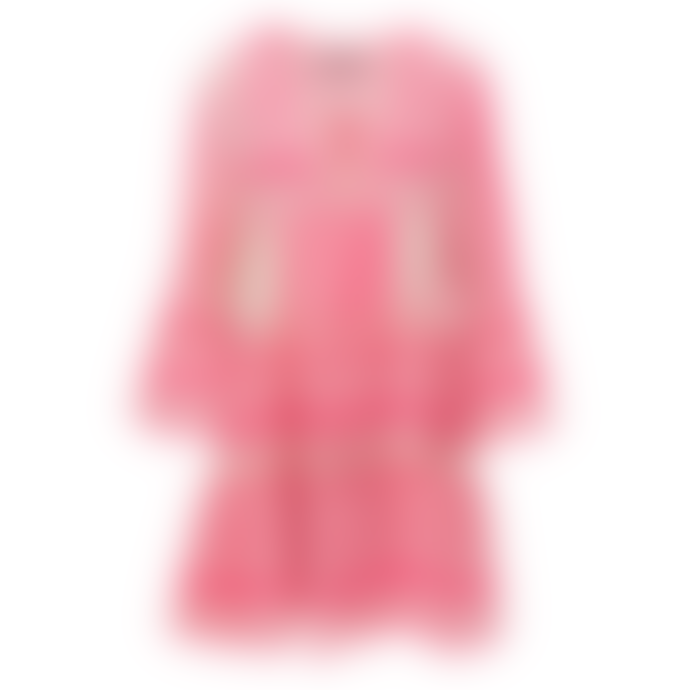 DEVOTION Neon Pink/ White Whinepi Devotion Embroidery Zakar Dress 0193193G