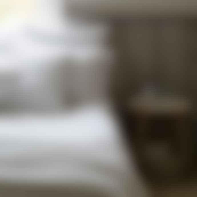 Also Home Lisbon White Linen Pillow Case Pair
