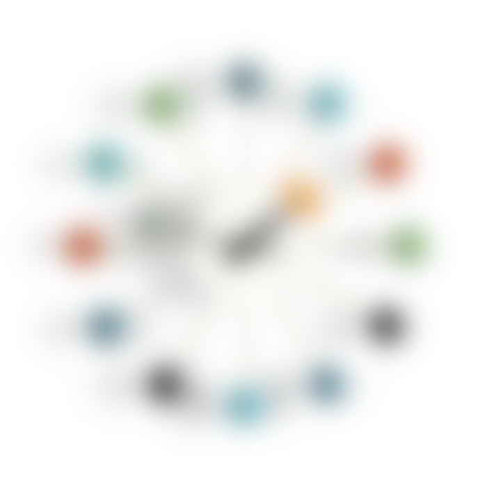 Vitra Multicolor Wood Ball Wall Clock