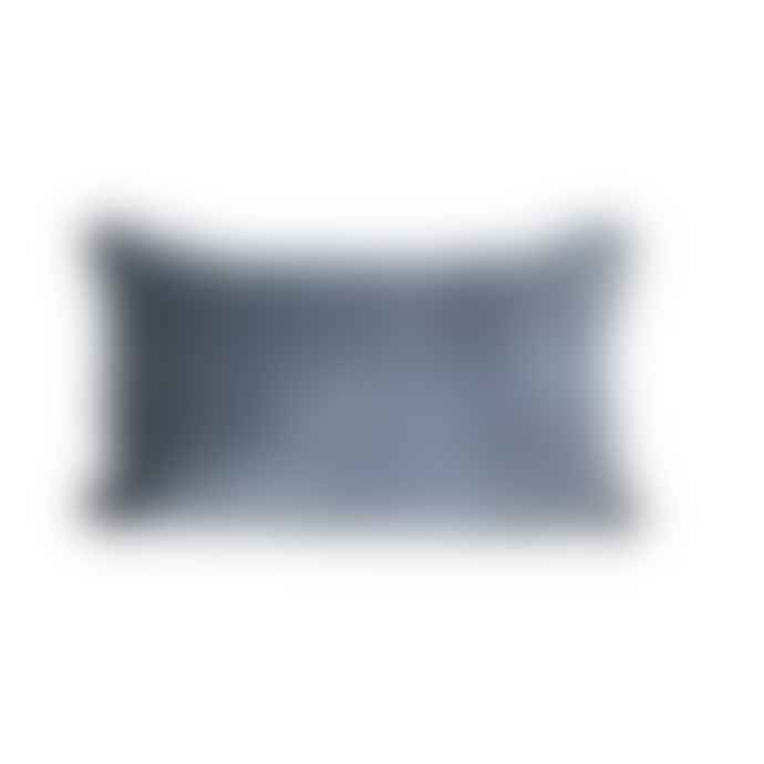 Raine And Humble Velvet Breakfast Cushion Blue Grey