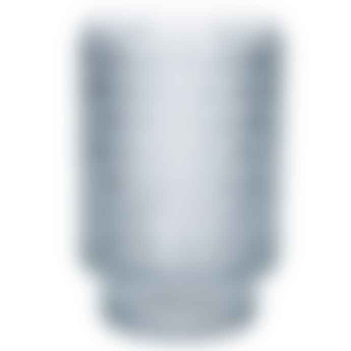 Gisela Graham Clear Glass Ice Effect Tea Light Holder