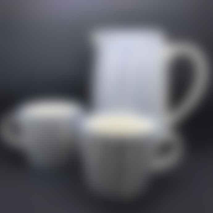Gisela Graham Blue Ceramic Dots Print Mug