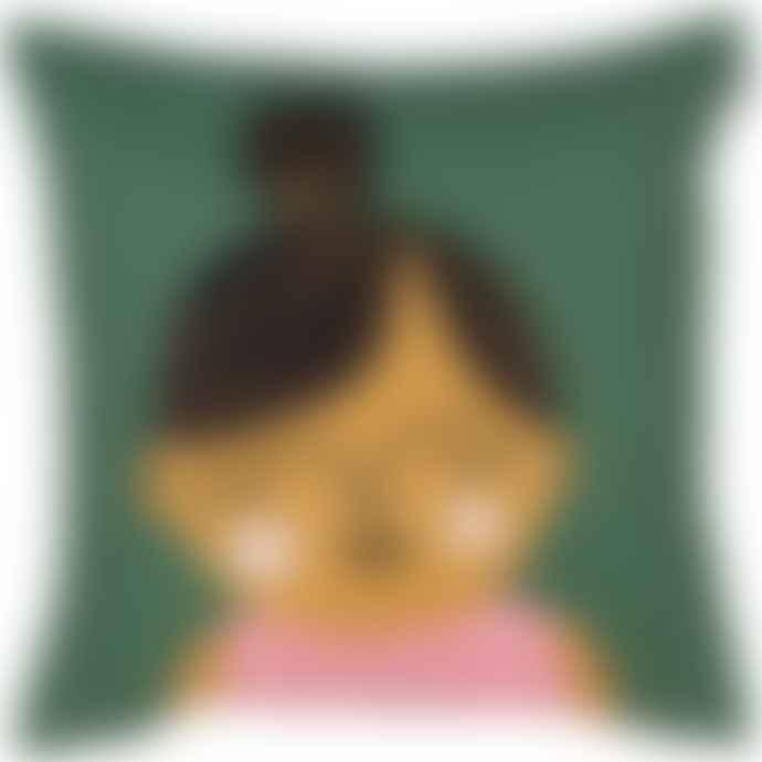 Spira of Sweden Face Cushion Cover - Esmeralda