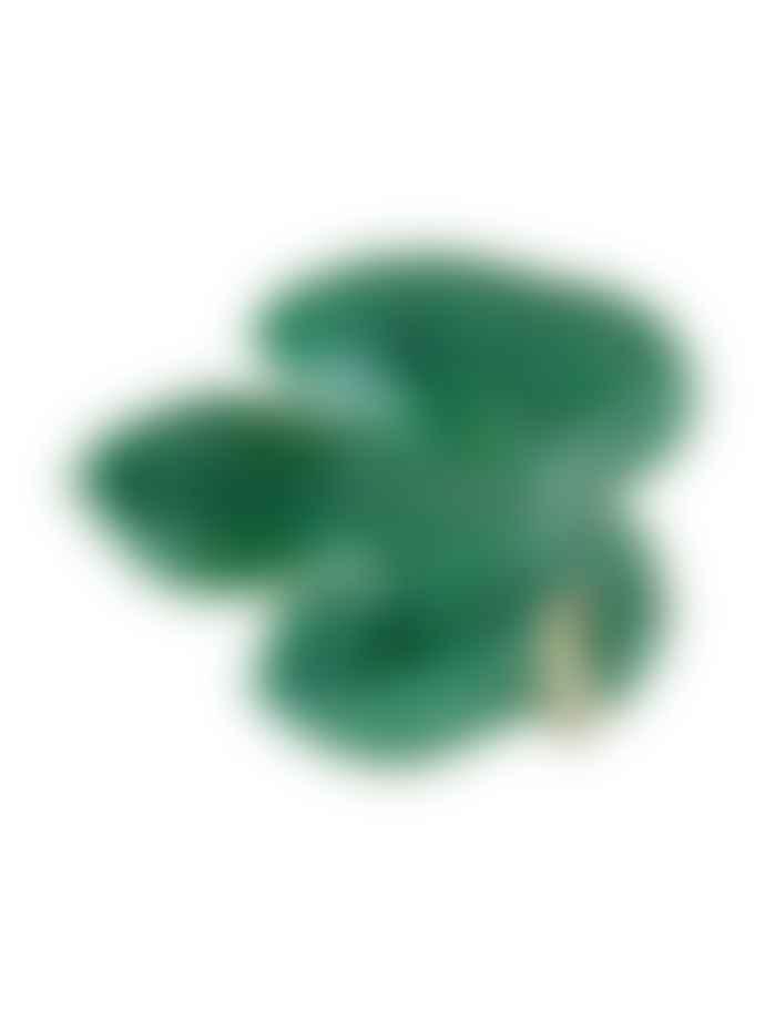 Bordallo Pinheiro Green Earthenware Fig Leaf with Caterpillar