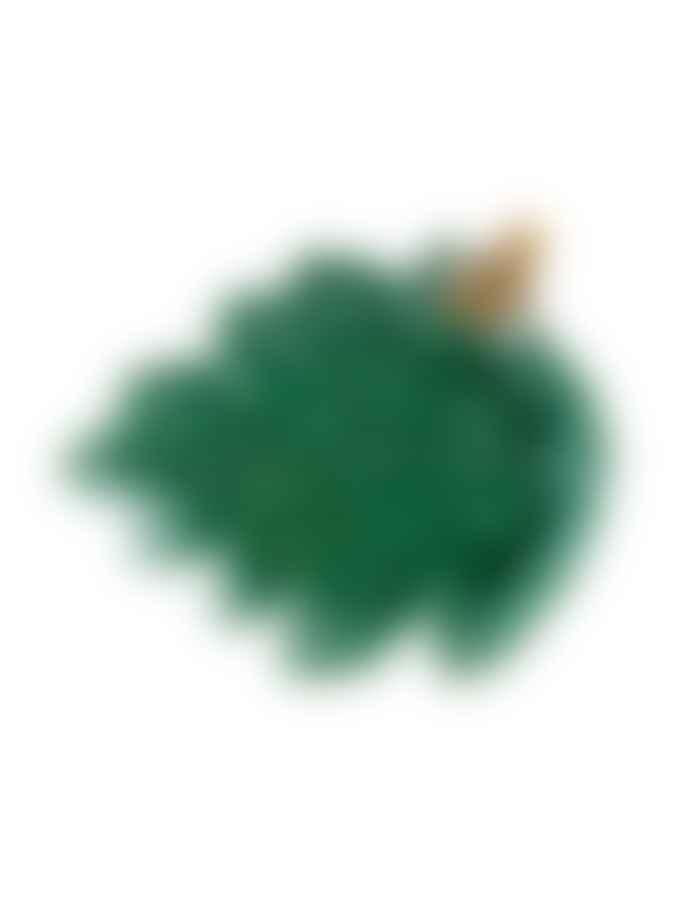 Bordallo Pinheiro Green Earthenware Oak Tree Leaf with Bee