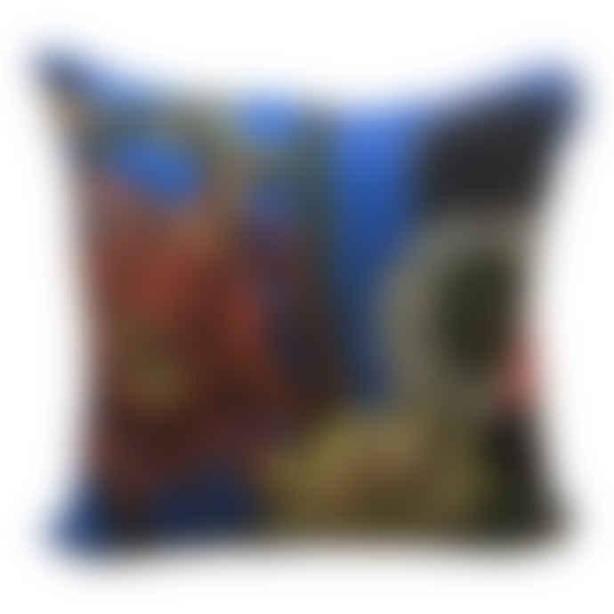 Diana Wilson Arcana Big Blue Cactus Cushion - Cotton