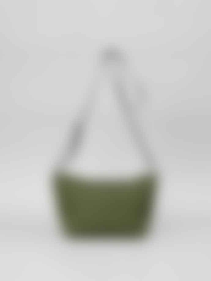 Mimi Berry Khaki Fides Crossbody Cavnas Bag