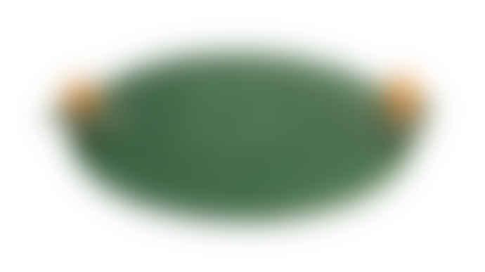Bordallo Pinheiro Green Earthenware Lily Cheese Tray with 2 Snails