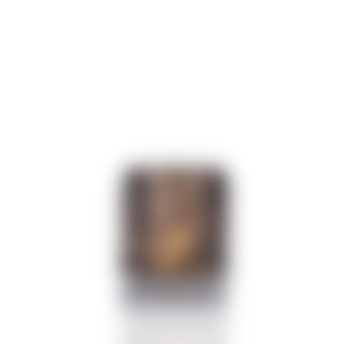 Skogsberg Smart Smoky Grey Glass Boule Hurricane Candle Holder