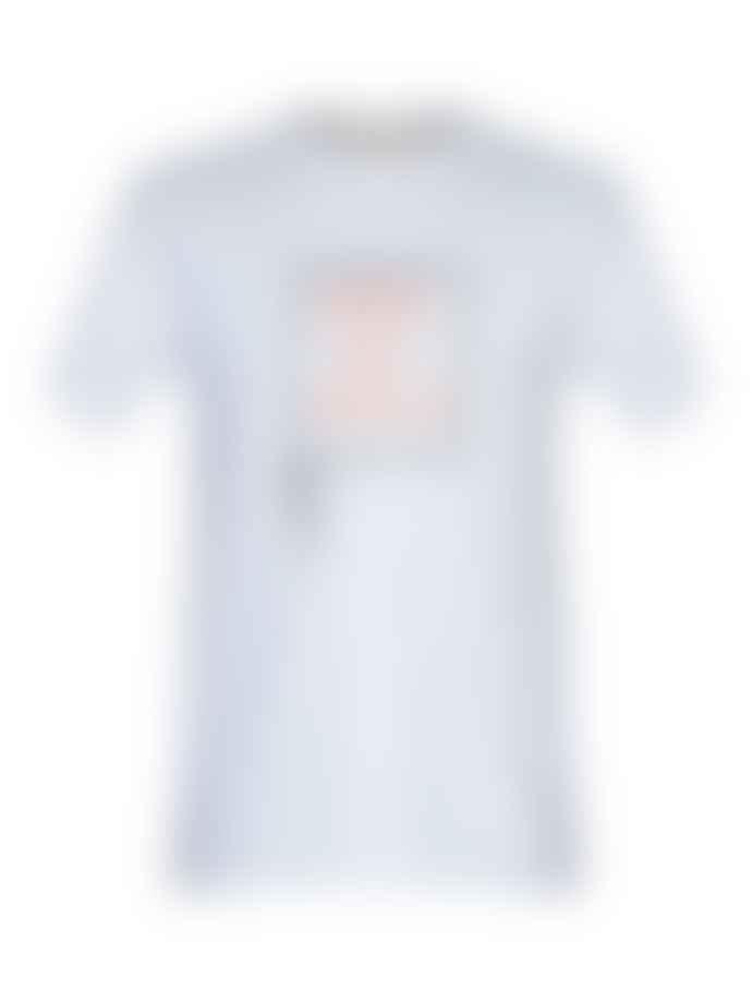 Hymn 'MATCH' Tennis Print White T-Shirt