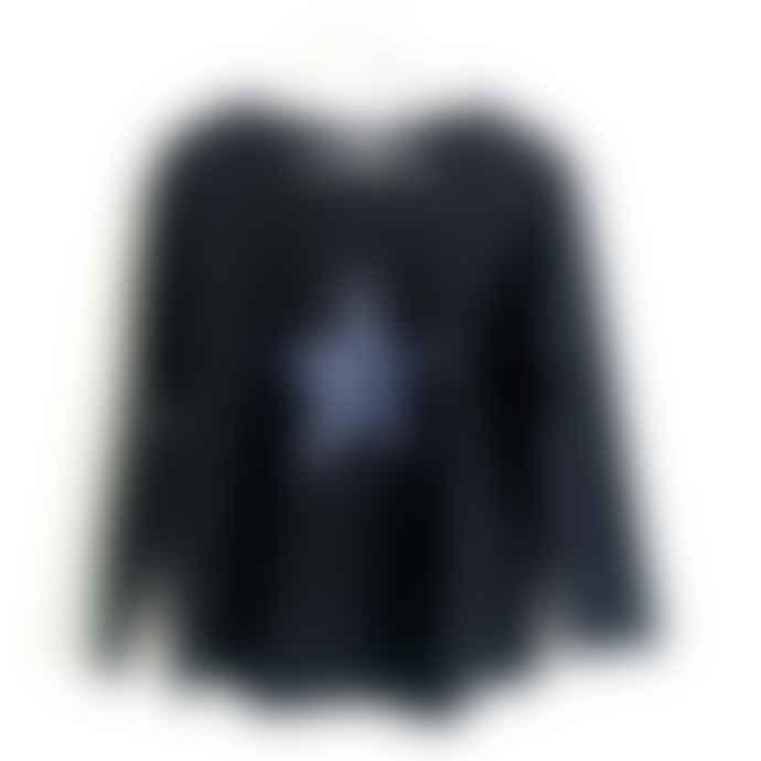 Chalk UK Long Sleeve Black T Shirt With Grey Star