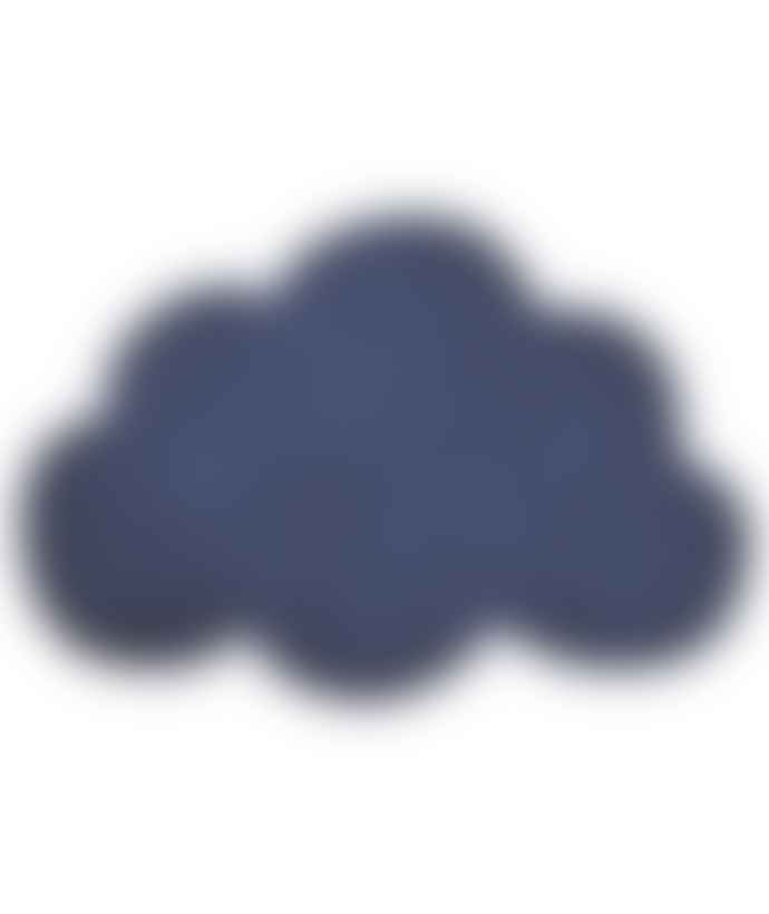 LILIPINSO Navy Blue Cotton Cloud Rug