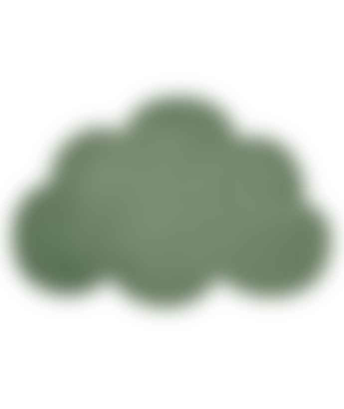 LILIPINSO Dark Green Cotton Cloud Carpet