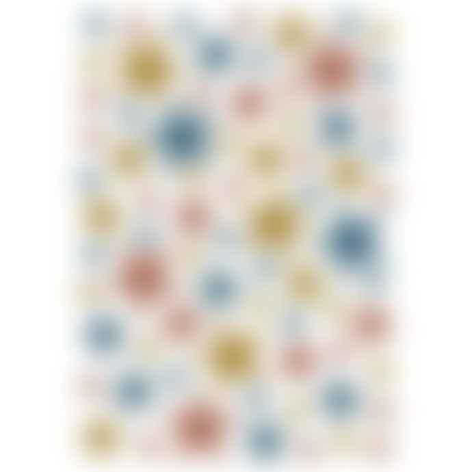 LILIPINSO A3 White Matte Vinyl Mix Gold and Oil Stars Wall Sticker