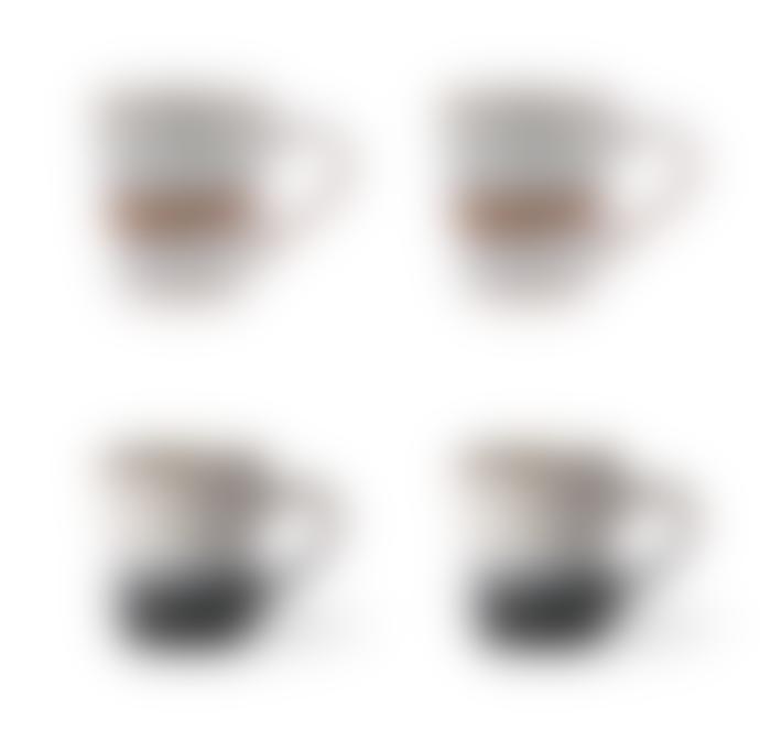 HK Living Set Of 4 Ceramic 70's espresso Mugs