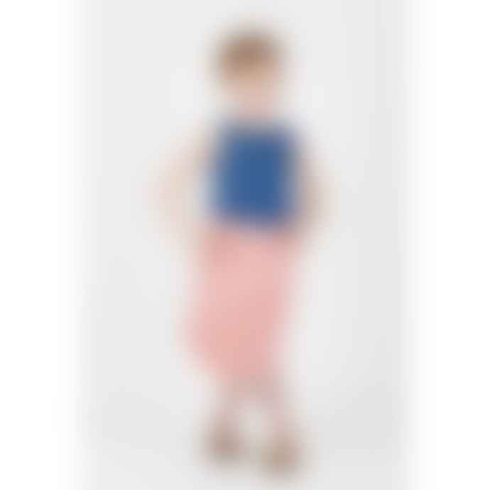 bonjour maurice Kids Organic Cotton & Reversible Coral And Stripped Skirt