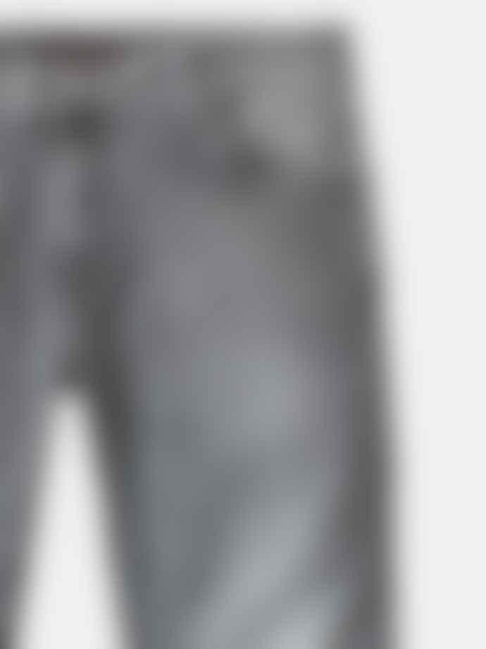 Nudie Jeans Grey Cotton Easy Skinny Lin Jeans