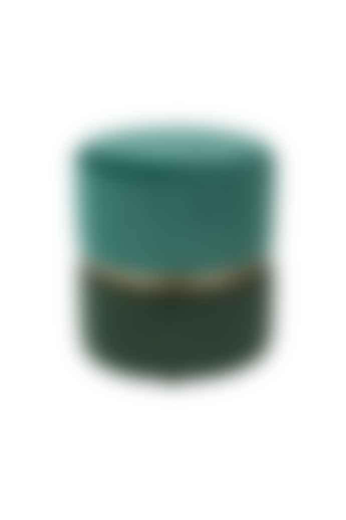 Zuiver Emeral Green Velvet Stool